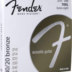Corzi chitara acustica Fender 70XL 80/20 Bronze 10-48