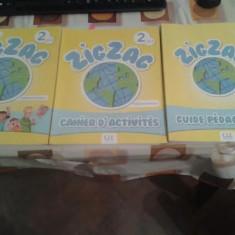 Pachet manuale limba franceza copii ZIGZAG 2, Clasa 1, Limbi straine