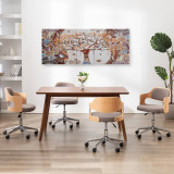 Set tablouri din pânză, imprimeu copac, multicolor, 200x80 cm, vidaXL