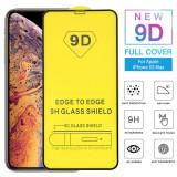 Folie sticlă iPhone X cu adeziv pe tot ecranul si margini curbate