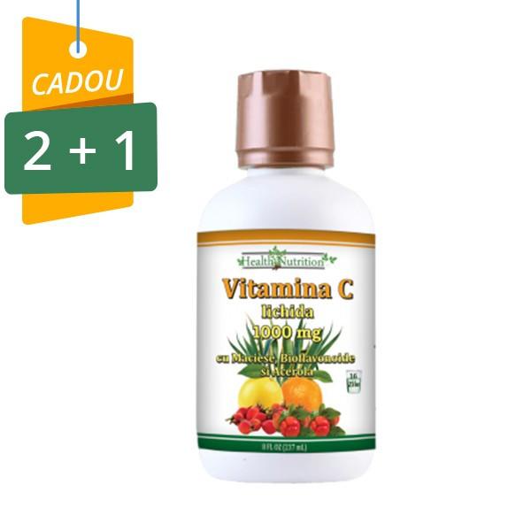 Vitamina C lichida 1000 mg 237ml, Pachet 2+1 Cadou