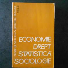 ECONOMIE DREPT STATISTICA SOCIOLOGIE volumul 3 (1966)