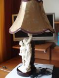 LAMPA ARTIZANALA CU STATUETA DIN ALABASTRU