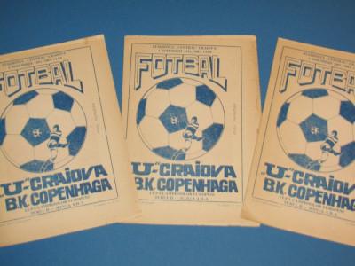 Program meci fotbal UNIVERSITATEA CRAIOVA - BK COPENHAGA(CCE 04.11.1981) foto