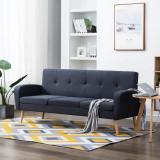 Canapea de 3 persoane, material textil, gri închis