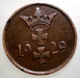 F.028 DANZIG 1 PFENNIG 1929, Europa, Bronz