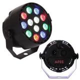 Cumpara ieftin Proiector compact, 12 LED-uri RGB 3 W, 7 canale DMX, amestec de culori