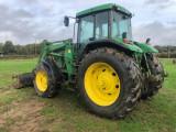 Tractor John Deere 7710, an fabricatie 2000, AC, 4x4, cu incarcator JD 734A, Little Tikes