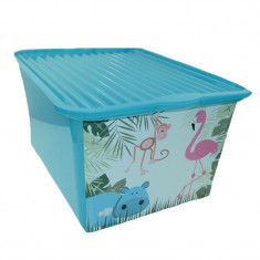 Cutie pentru depozitarea jucariilor BranQ C-Box BCBT, Turcoaz