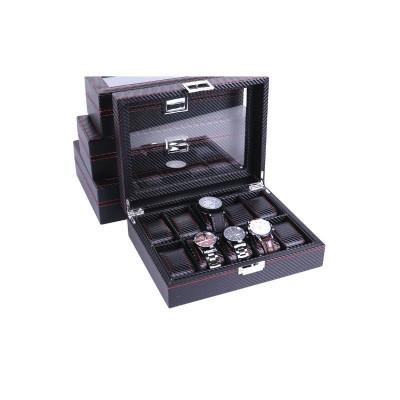 Caset? pentru depozitare 10 ceasuri imprimeu carbon foto