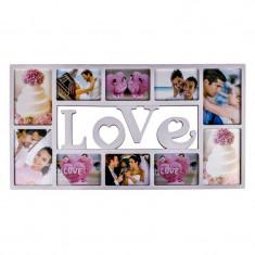 Rama foto multipla, 37 x 72 cm, mesaj Love, Oem