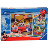 Puzzle Clubul lui Mickey Mouse, 3x49 piese Ravensburger