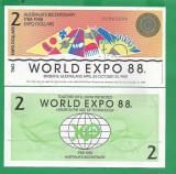 = AUSTRALIA - 2 DOLLARS - 1988 - UNC  PRIVATE ISSUE =