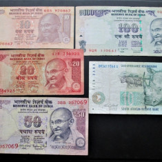 Lot de 5 bancnote vechi exotice: India si Africa de Sud