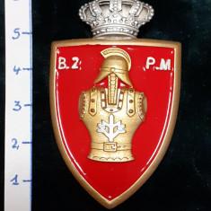 Insigna 7-ani BATALION 2 PIONIERI de MUNTE ; reproductie Regalista
