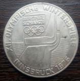 (A3) MONEDA DIN ARGINT AUSTRIA - 100 SCHILLING 1976, JOCURILE OLIMPICE INNSBRUCK, Europa