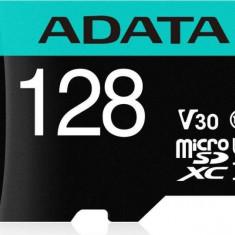 Card de memorie ADATA V30S 128GB Premier Pro MicroSDXC Clasa 10 UHS-I U3 + Adaptor SD