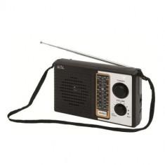 Radio portabil retro, 4 benzi, Sal RPR 4B, negru Mania Tools