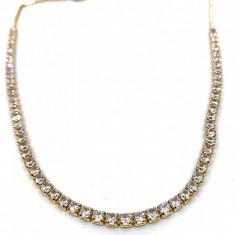 Colier Borealy Small Diamonds Tennis Classic Half Gold
