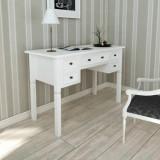 Birou de lucru cu 5 sertare, alb, vidaXL