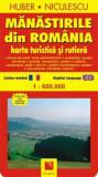 Cumpara ieftin Manastirile din Romania. Harta turistica si rutiera/Huber Kartographie