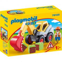Playmobil 1.2.3 - Excavator cu brat mobil