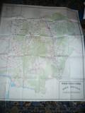 Harta mare a Judetului Caras-Severin 1984 ,dim.= 141x126cm  RSR Inst. Geodezie