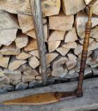 Pedala roata tors, rustic an 1930