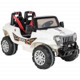 Jeep Electric cu Doua Locuri si Telecomanda Attack 12V Alb