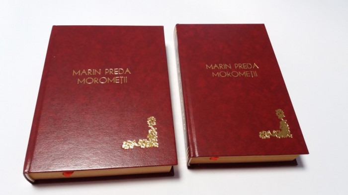 MARIN PREDA - MOROMETII  PRINCEPS, 2 VOL ilustratii de Perahim-LEGATE DE LUX