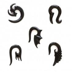 Expander ureche, motiv tribal - Lățime: 4 mm, Simbol: Gheare de tigru