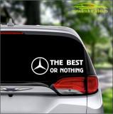 The Best Or Nothing Mercedes -Stickere Auto-Cod:ESV-132 -Dim  20 cm. x 6.8 cm.