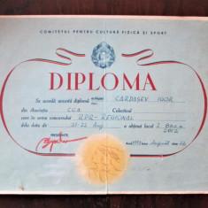 Diploma veche, Perioada Comunista, Romania 1953: Asociatia CCA - Atletism