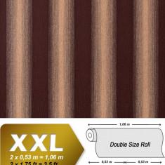 Tapet de culoare maro model cu dungi si finisaj stralucitor cu suprafata in relief 931-36