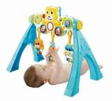 Arcada bebelusi pentru joaca Bo Jungle cu muzica, lumini si panou detasabil