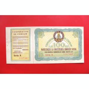 ROMANIA  -  100 Lei  Cooperativa de Consum