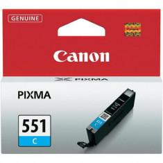 Cartus cerneala canon cli-551c cyan capacitate 7ml pentru canon pixma