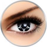 Fancy Pentagrama - lentile de contact colorate albe/negre anuale - 360 purtari (2 lentile/cutie)