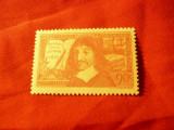Serie 1 valoare Franta 1937 - Personalitati - Descartes - tip 1