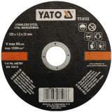 Disc debitat otel inoxidabil 125 x 1.2 x 22 mm Yato YT-6103