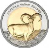 Monede Turcească Comemorative FAUNA OAIA SALBATICA DE MUNTE ANATOLIAN 1 Liră, Europa