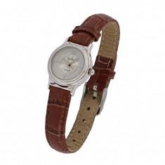 Ceas de mana Estrela, analogic, mecanism quartz, pentru femei placat cu argint