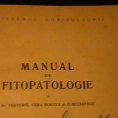 MANUAL DE FITOPATOLOGIE-ST. POSTERIS-V. BONTERA-D. BECERESCU-529 PG A 4-, Alta editura