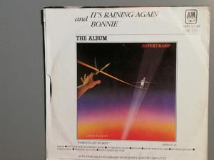 Supertramp – It's Raining Again /Bonnie (1982/A & M/RFG) - Vinil Single pe '7/NM