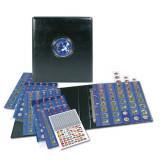 Album-Premium pentru 30 seturi complete de monede euro - 1 cent pana la 2 euro - Toate Tarile cu Euro