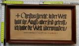 Caligrafie Veche.Verset din Evanghelie.Scriere de mana sec XIX., Istorice, Cerneala, Art Deco