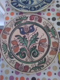 Ceramica,lut foarte veche din zona Rimetea-Torocko.Farfurii de petete si vaza