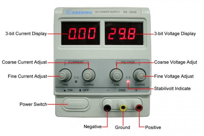 Sursa tensiune reglabila 0 - 30V 5A COD:305D