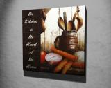 Tablou decorativ, Vega, Canvas 100 procente, lemn 100 procente, 45 x 45 cm, 265VGA1094, Multicolor