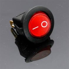 Comutator / Intrerupator plastic auto - ON si OFF, culoare rosu